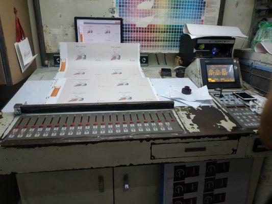 Hệ thống máy in tại xưởng in Bắc Việt