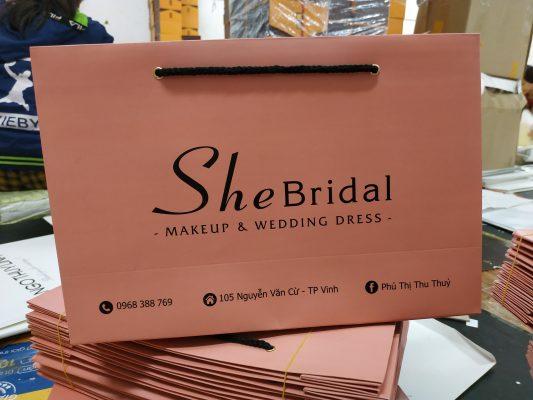 Túi giấy đựng váy cưới - túi kraft nhật