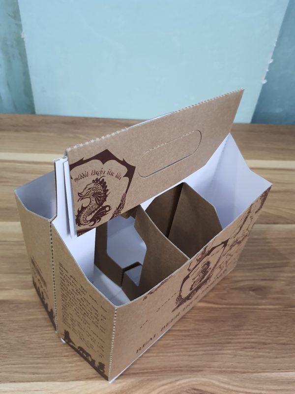 in hộp bia bằng giấy kraft nâu chất lượng cao